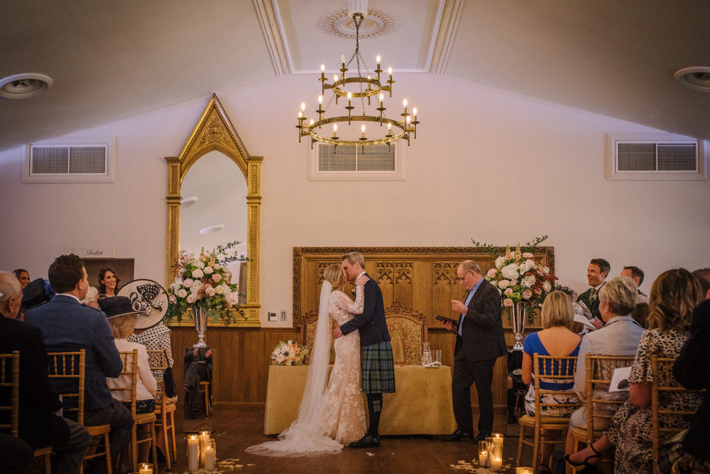 Wedding Flowers at Crossbasket Castle - Emily and Chris McClure chose Nicole Dalby to create their wedding flowers
